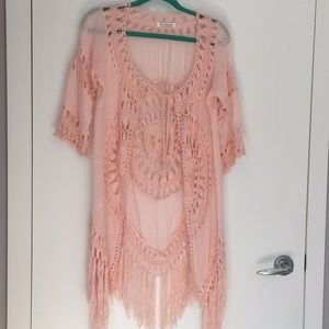 Tops - Light Peach Free People inspired top